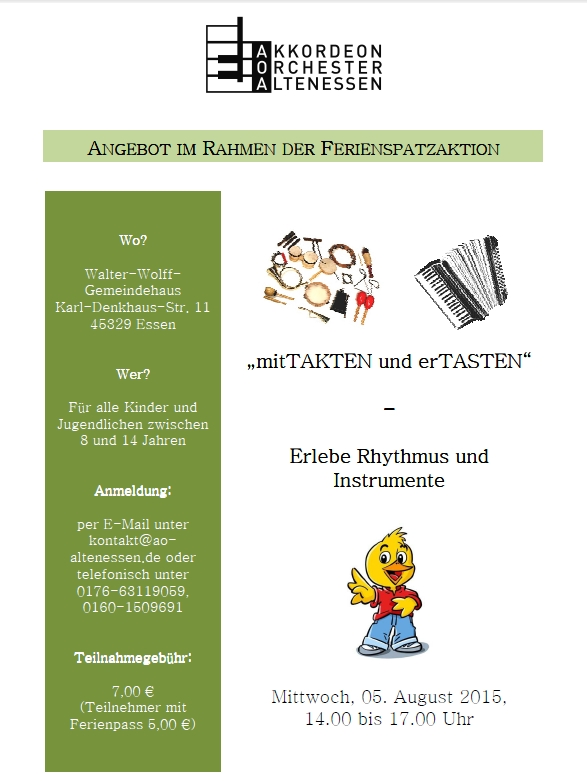 Flyer Ferienspatz 2015