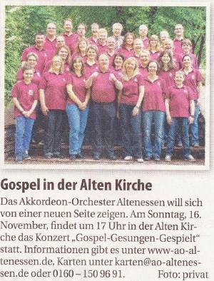 Nordanzeiger_Gospelkonzert