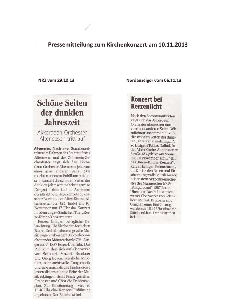 Presse Kirchenkonzert