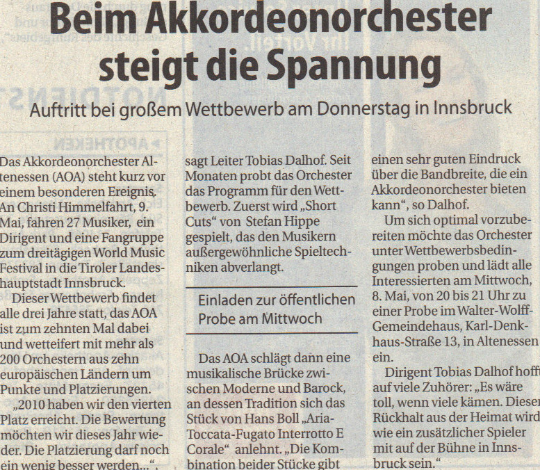Presse Nordanzeiger 04.05.2013