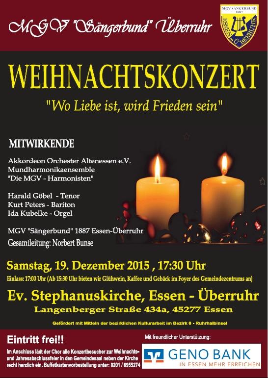 Weihnachtskonzert Sängerbund 2015