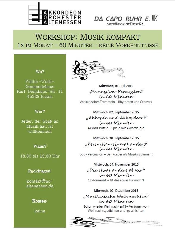 Workshops Musik kompakt